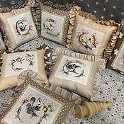 """Бортики в кроватку ручной работы. Ярмарка Мастеров - ручная работа Бортики в кроватку """" Сказочный сон"""", подушка-сплюшка. Handmade."""