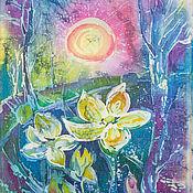 Картины и панно ручной работы. Ярмарка Мастеров - ручная работа Весна ,подснежники. Handmade.