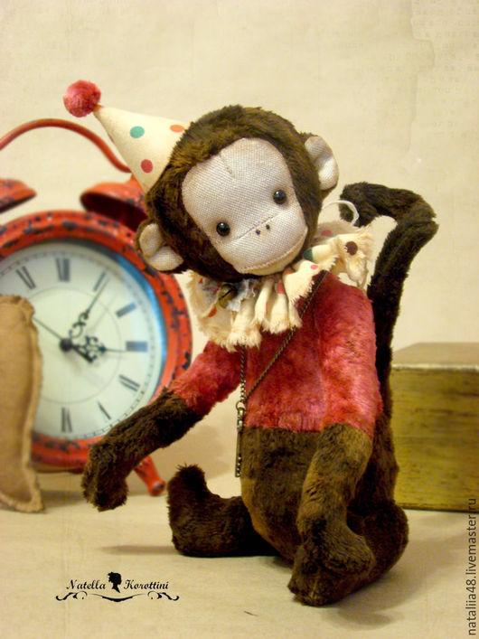 Мишки Тедди ручной работы. Ярмарка Мастеров - ручная работа. Купить Обезьянка тедди Альберт. Handmade. Комбинированный, обезьянка, цирк