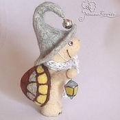 Куклы и игрушки ручной работы. Ярмарка Мастеров - ручная работа Черепашка с фонариком. Handmade.