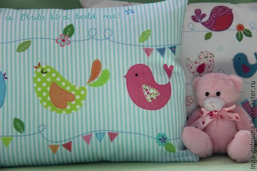 Текстиль, ковры ручной работы. Ярмарка Мастеров - ручная работа. Купить Детские  подушки Веселые птички. Handmade. Разноцветный