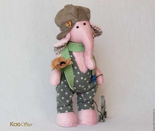 Игрушки животные, ручной работы. Ярмарка Мастеров - ручная работа. Купить Слонёнок Робби. Handmade. Серый, лошадка, подарок девушке