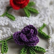 Для дома и интерьера handmade. Livemaster - original item Napkin with violet. Handmade.