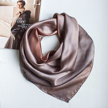 Accessories handmade. Livemaster - original item Shawls: Purple Sunset silk shawl. Handmade.