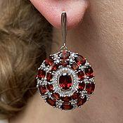 Украшения handmade. Livemaster - original item Classic earrings with natural garnet.. Handmade.