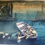 """Картины и панно ручной работы. Ярмарка Мастеров - ручная работа """"звездный дождь"""", """"Исаакий"""" акварели. Handmade."""
