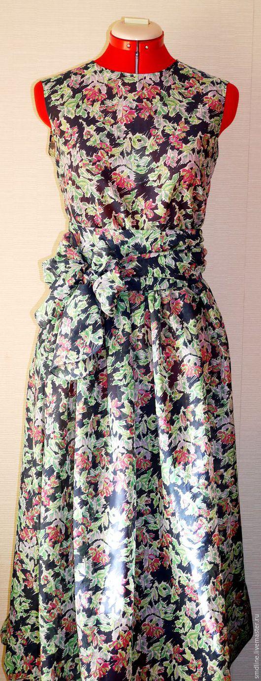 Платья ручной работы. Ярмарка Мастеров - ручная работа. Купить Платье длинное без рукавов. Handmade. Комбинированный, летнее платье