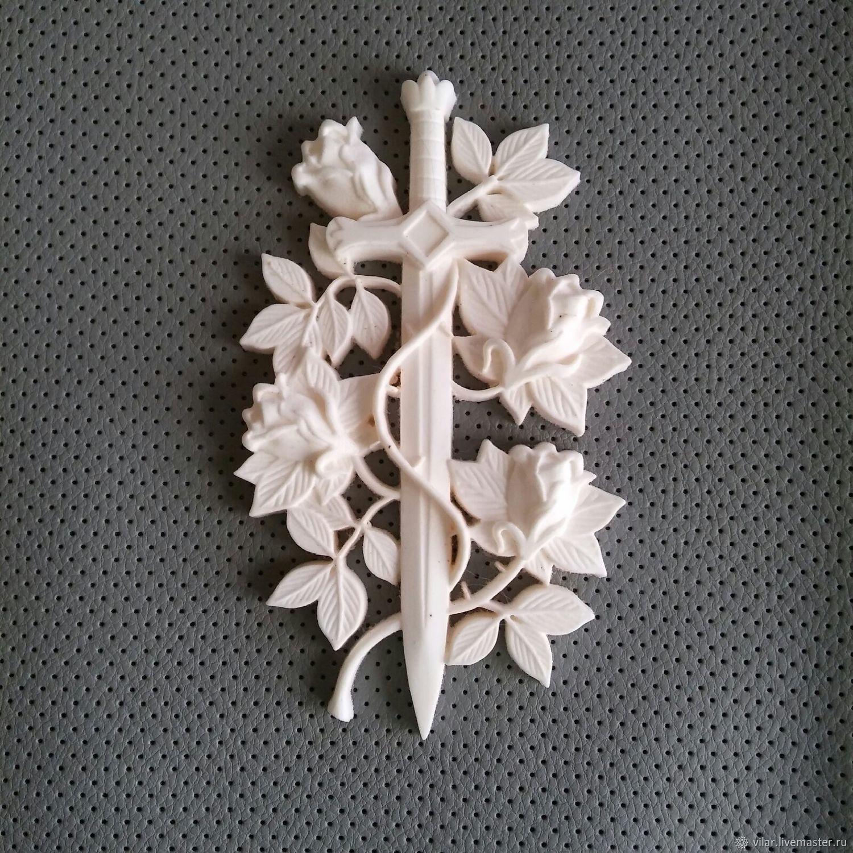 Меч обвитый розами, Декор для декупажа и росписи, Балашиха,  Фото №1