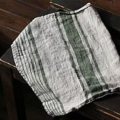 Для дома и интерьера handmade. Livemaster - original item Linen striped towel - A towel made of 100% linen. Handmade.