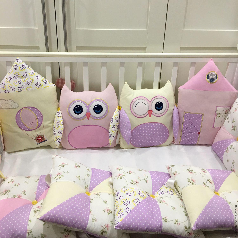 Совушки бортики в кроватку для новорожденных своими руками 15