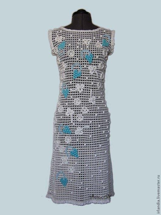 """Платья ручной работы. Ярмарка Мастеров - ручная работа. Купить Платье """"Спелый виноград"""". Handmade. Вязаное платье, платье крючком"""