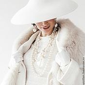 """Аксессуары ручной работы. Ярмарка Мастеров - ручная работа Шляпка в стиле """"Dior"""" белая. Handmade."""