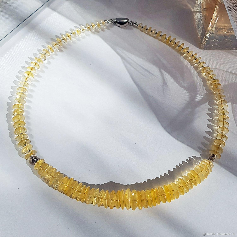 Necklace with natural citrine, Necklace, Krasnodar,  Фото №1