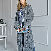 Одежда handmade. Livemaster - original item Textured cardigan in grey. Handmade.