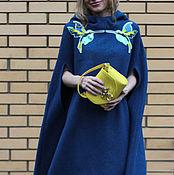 Одежда ручной работы. Ярмарка Мастеров - ручная работа Кейп  из буклированной шерсти. Handmade.