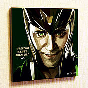 Картины и панно handmade. Livemaster - original item Painting Pop Art Loki Marvel. Handmade.