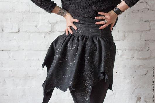Верхняя одежда ручной работы. Ярмарка Мастеров - ручная работа. Купить Юбка-корсет-дублёнка. Handmade. Саймон, лама