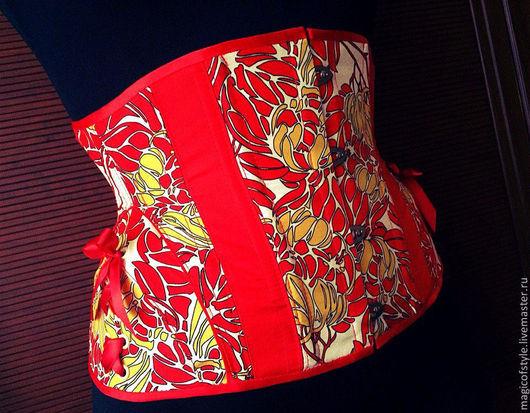 """Корсеты ручной работы. Ярмарка Мастеров - ручная работа. Купить Корсет """"Rojo"""". Handmade. Разноцветный, корсет под грудь"""