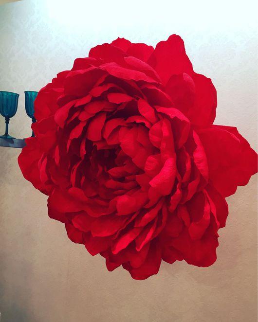 Свадебные цветы ручной работы. Ярмарка Мастеров - ручная работа. Купить Огромные пионы. Handmade. Бумажные цветы, декор для интерьера