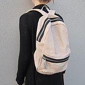 Сумки и аксессуары ручной работы. Ярмарка Мастеров - ручная работа Мини рюкзак из кожи питона. Handmade.