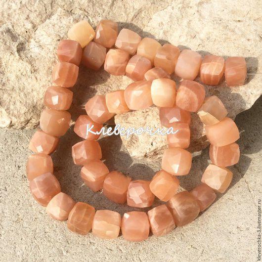 Для украшений ручной работы. Ярмарка Мастеров - ручная работа. Купить ..Солнечный камень 7-9 мм кубик огранка бусины камнид для украшений. Handmade.