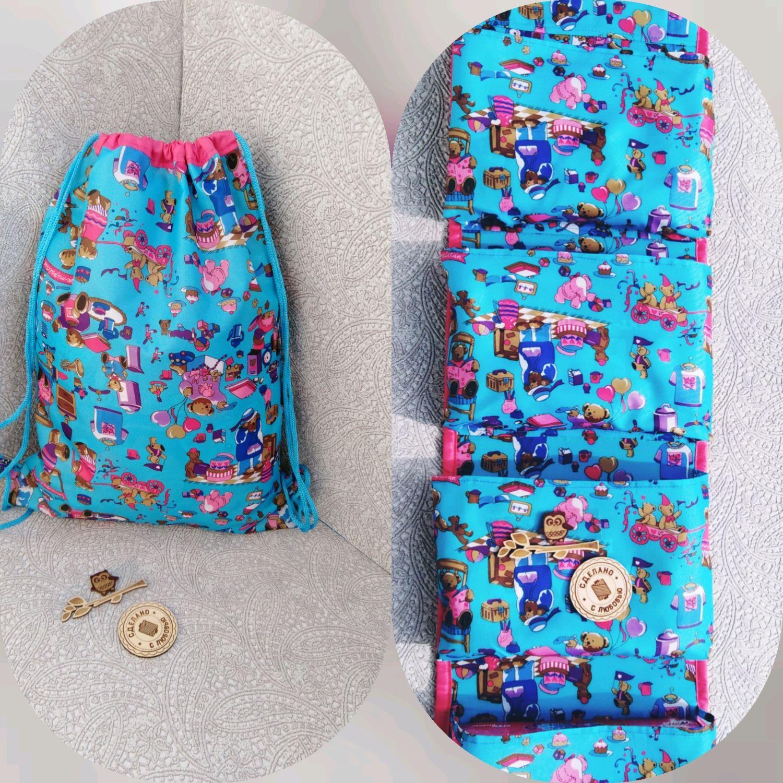 Кармашки+рюкзак-мешок для детского садика, Кармашки в детский сад, Санкт-Петербург,  Фото №1