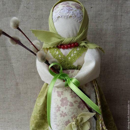 """Народные куклы ручной работы. Ярмарка Мастеров - ручная работа. Купить """"Вербная"""" или """"Вербница"""" по мотивам Народной куклы. Handmade."""
