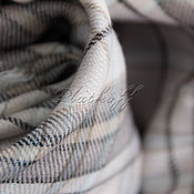 "Аксессуары handmade. Livemaster - original item Светлый шейный  платок в клетку ""Casual"". Handmade."