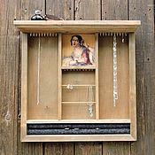 Для дома и интерьера ручной работы. Ярмарка Мастеров - ручная работа Красотка - органайзер-витрина для украшений. Handmade.