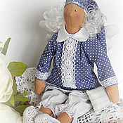 Куклы и игрушки ручной работы. Ярмарка Мастеров - ручная работа Тильда ангел добрых снов текстильная интерьерная кукла. Handmade.