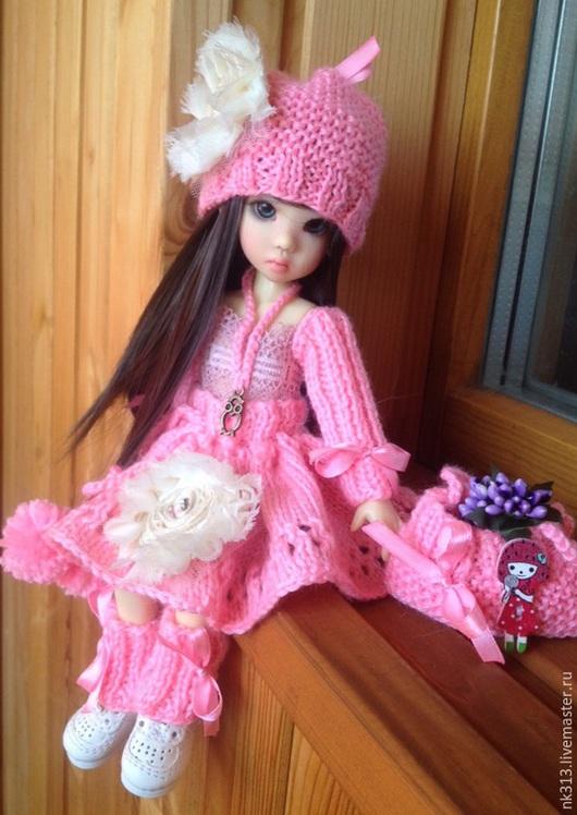 """Одежда для кукол ручной работы. Ярмарка Мастеров - ручная работа. Купить """"Розовые мечты"""". Одежда для кукол. Handmade. Розовый, шапочка"""