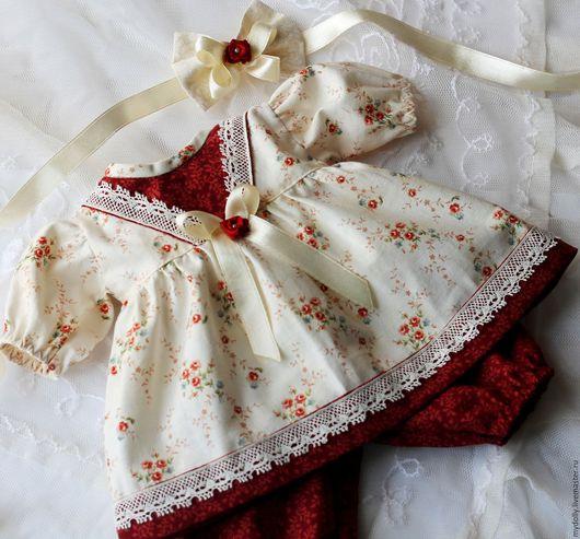 """Одежда для кукол ручной работы. Ярмарка Мастеров - ручная работа. Купить Комплект одежды для куклы 32- 35 см """"Корица и ваниль"""". Handmade."""