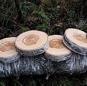 Материалы для творчества ручной работы. Ярмарка Мастеров - ручная работа Спилы деревянные. Handmade.