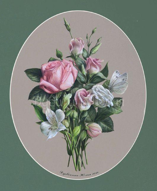 Картины цветов ручной работы. Ярмарка Мастеров - ручная работа. Купить Букет. Handmade. Букет, цветы, ботанический рисунок, ботаника