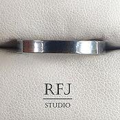 """Украшения ручной работы. Ярмарка Мастеров - ручная работа Кольцо """"Черный глянец"""" из оксидированного серебра Marelux&RFJStudio. Handmade."""