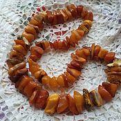 "Vintage necklace handmade. Livemaster - original item Колье  из  янтаря ""Карамель и мед"". Handmade."