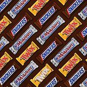 """Материалы для творчества ручной работы. Ярмарка Мастеров - ручная работа Ткань хлопок """"Шоколадные батончики"""" 35х31 см. Handmade."""
