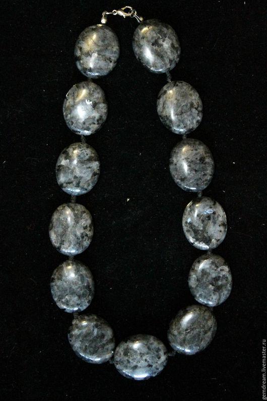 Колье, бусы ручной работы. Ярмарка Мастеров - ручная работа. Купить Ожерелье из натурального камня лабрадора (лабрадорита). Handmade.