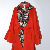 Одежда ручной работы. Ярмарка Мастеров - ручная работа Пальто-пончо и рюшей на рукавах. Handmade.