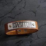 Украшения handmade. Livemaster - original item Led Zeppelin genuine leather bracelet, ice zipping bracelet. Handmade.