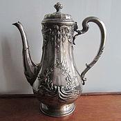 Антикварный кофейник Christofle Gallia ,Франция, кон 19- нач 20 вв.