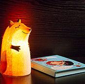 """Для дома и интерьера ручной работы. Ярмарка Мастеров - ручная работа Светильник войлочный """"Рыжая лиса"""". Handmade."""