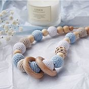 Одежда handmade. Livemaster - original item Slingobusy beige with blue, a gift for a young mother. Handmade.