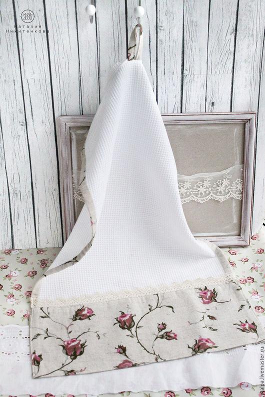 Полотенце кухонное для рук. Кухонные полотенца в подарок хозяйке. Подарок на Новый год или День рождения.