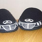 """Обувь ручной работы. Ярмарка Мастеров - ручная работа Войлочные тапочки """"Авто - мерседес, бмв"""". Handmade."""
