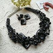 Украшения handmade. Livemaster - original item Necklace with black pearl and agate. Handmade.
