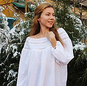 Одежда handmade. Livemaster - original item boho blouse with bold accents.. Handmade.
