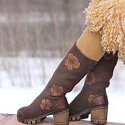 """Обувь ручной работы. Ярмарка Мастеров - ручная работа Сапожки из войлока и кожи """"Дети цветов"""". Handmade."""
