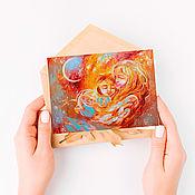 Открытки handmade. Livemaster - original item A set of postcards