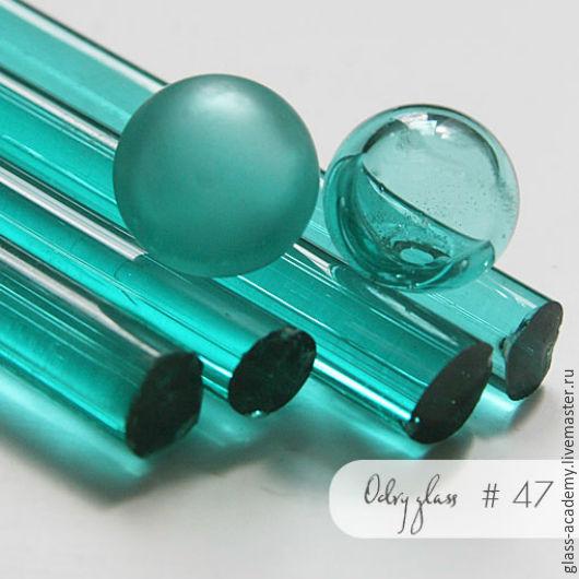 Для украшений ручной работы. Ярмарка Мастеров - ручная работа. Купить стекло #47 - Puya (Пуйя) бирюзовое для lampwork Odry glass coe 104. Handmade.